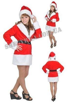 костюм Снегурочки красный