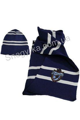 шапка и шарф вязаный