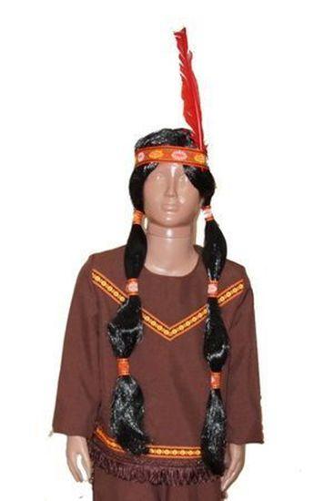 Парик индейцев волосы с пером