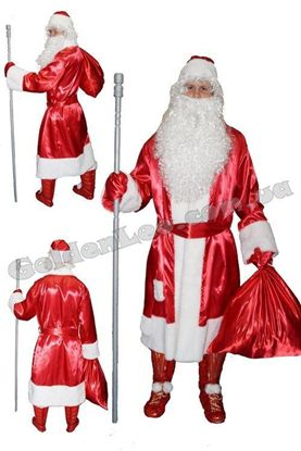 Изображение Костюм Деда мороза красный напрокат