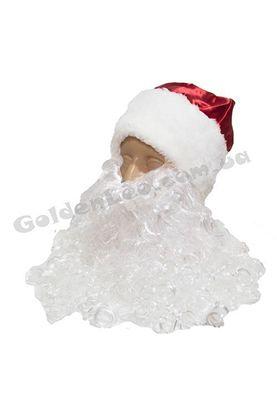 Шапка и борода Деда Мороза
