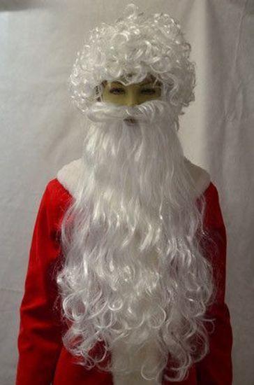 Большая борода и парик Деда Мороза