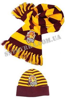 Шарф и шапка Гарри Поттера с эмблемой