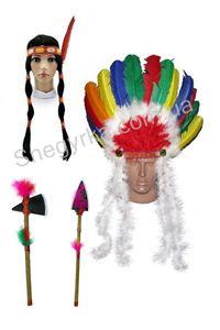 Зображення для категорії Аксесуари та перуки Індіанців