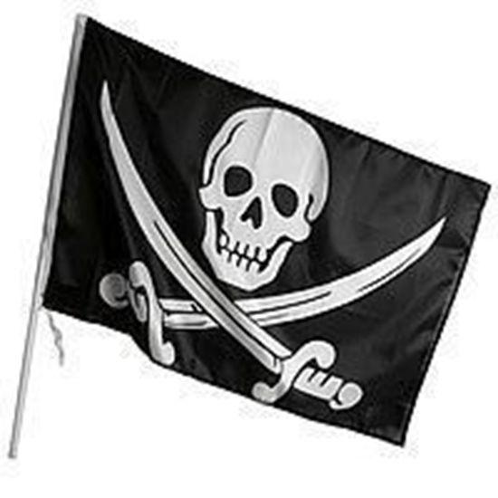 Пиратский флаг 90х60 см