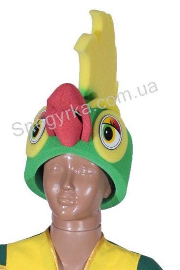 Маскарадная шапка Попугая из поролона