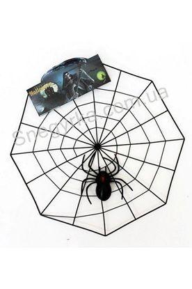 Паутина пластик с пауком