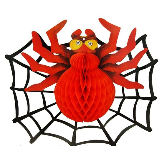 Паутина картон с пауком на Хэллоуин