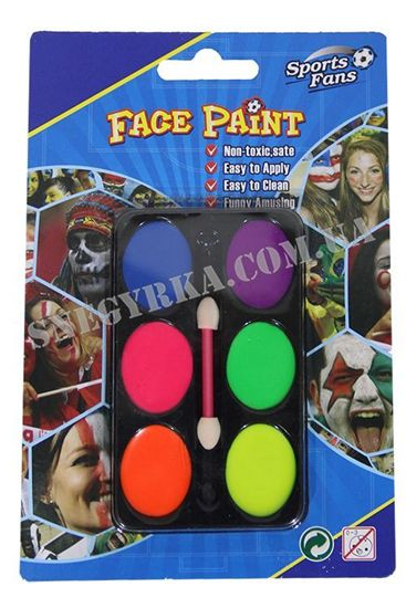 Разноцветные краски для макияжа