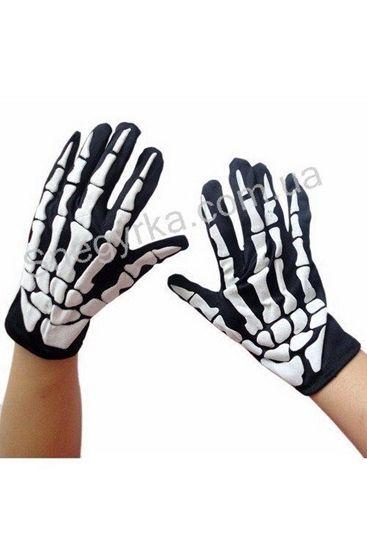 Перчатки со скелетным рисунком
