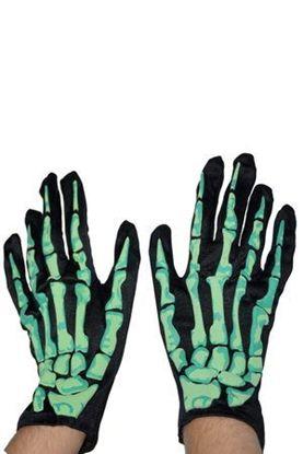 перчатки скелет светонакопительне